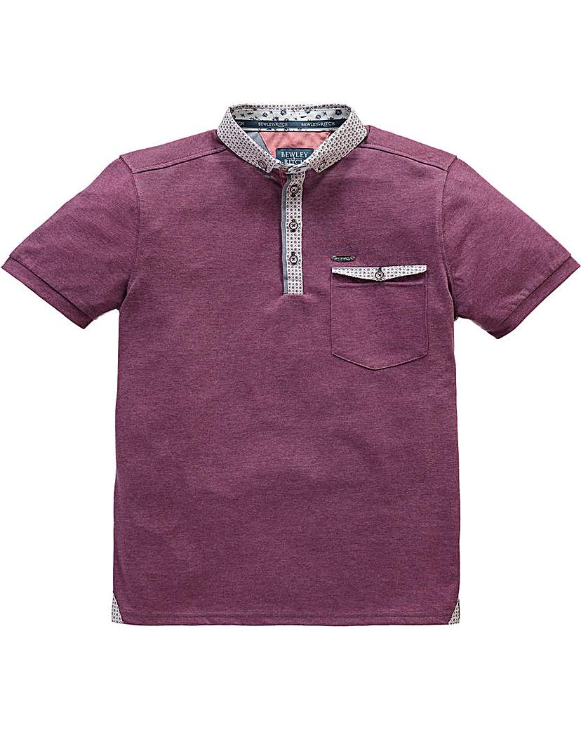 Image of Bewley & Ritch Ditsy Print Collar Polo