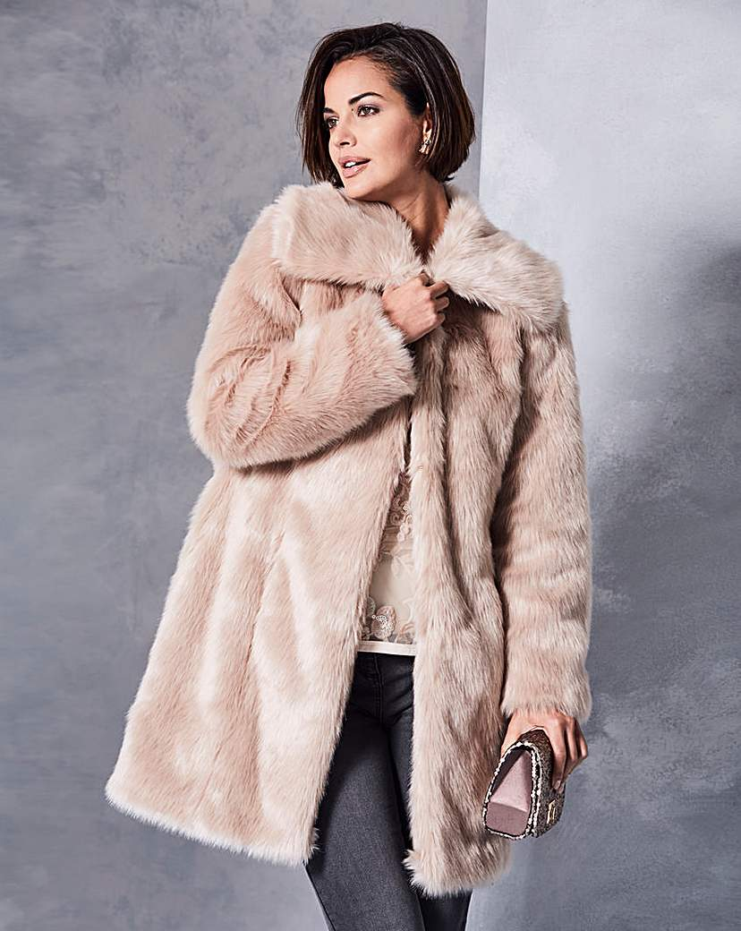 Champagne Faux Fur Coat
