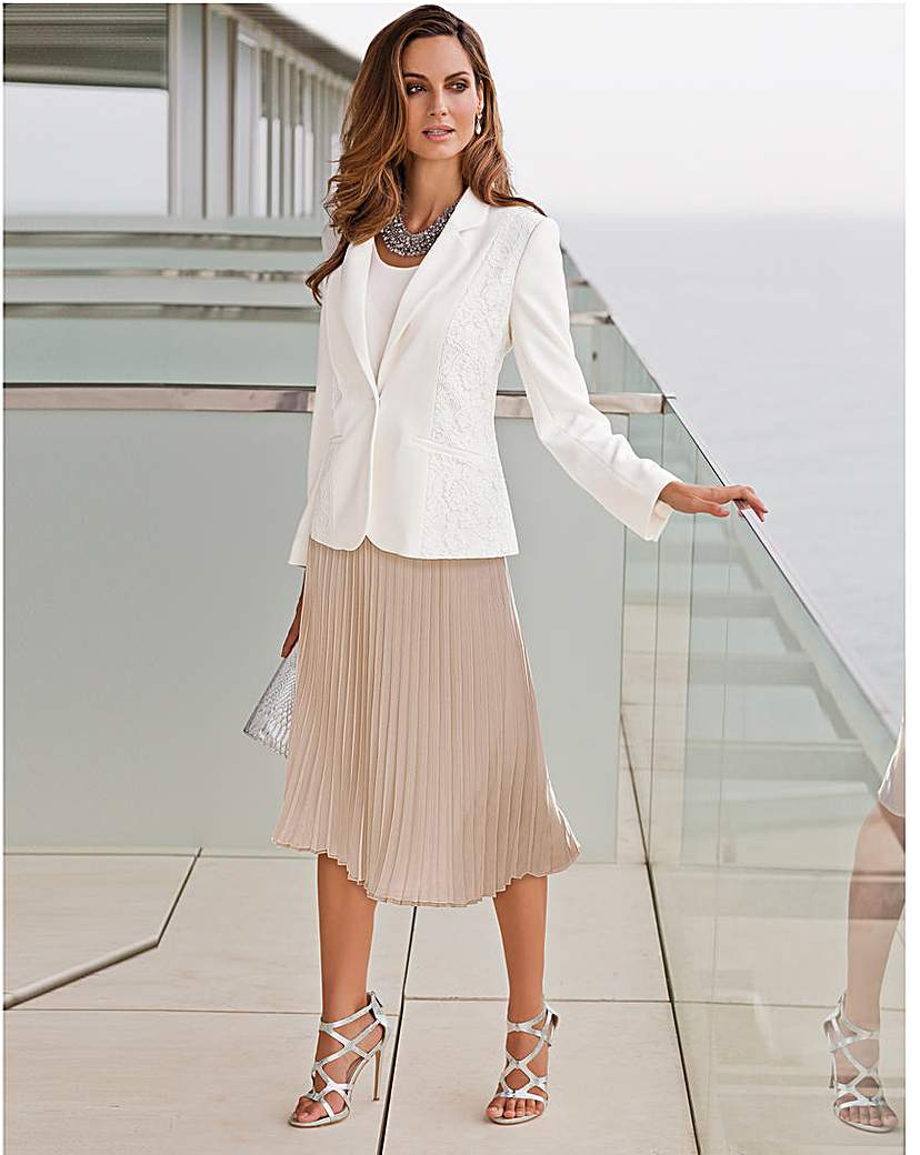 Image of Together Lace Detail Tailored Jacket