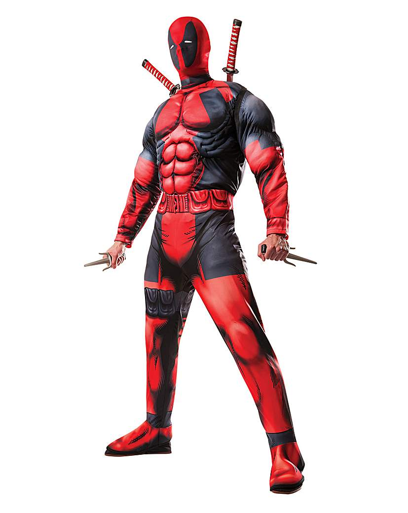 Image of Adult Deluxe Deadpool Costume