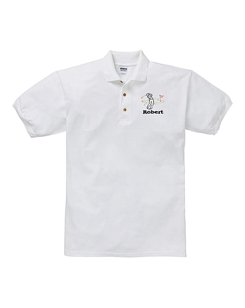 Image of Personalised Golf Polo Shirt