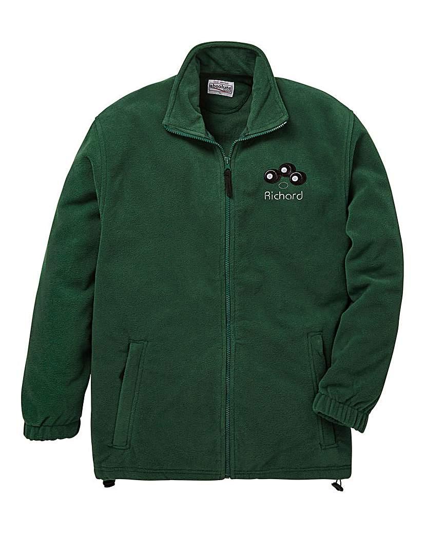 Personalised Bowls Zip Up Fleece