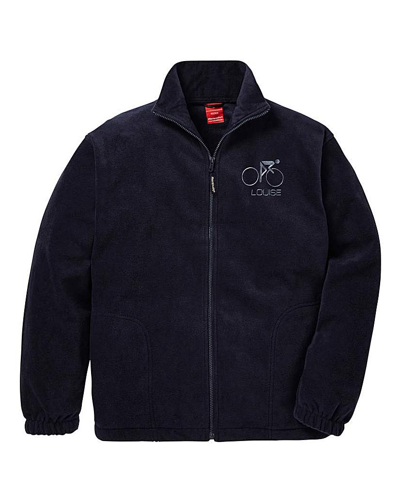 Personalised Cycling Zip Up Fleece