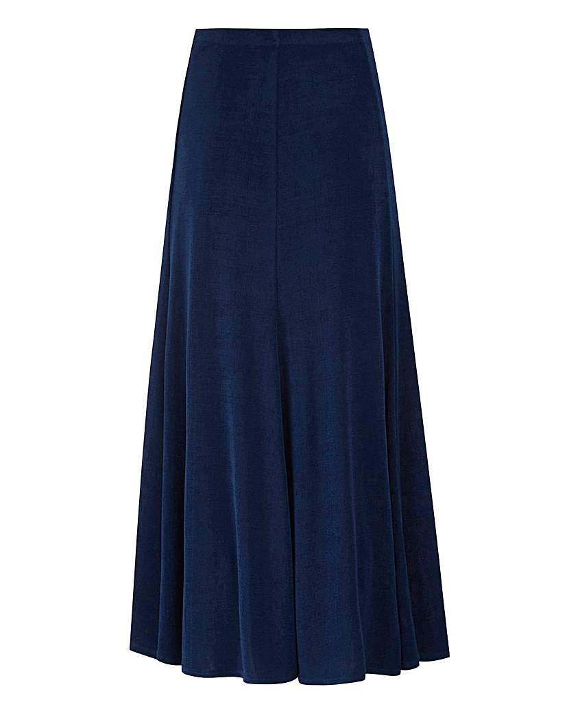 Plain Slinky Skirt Length 32in.