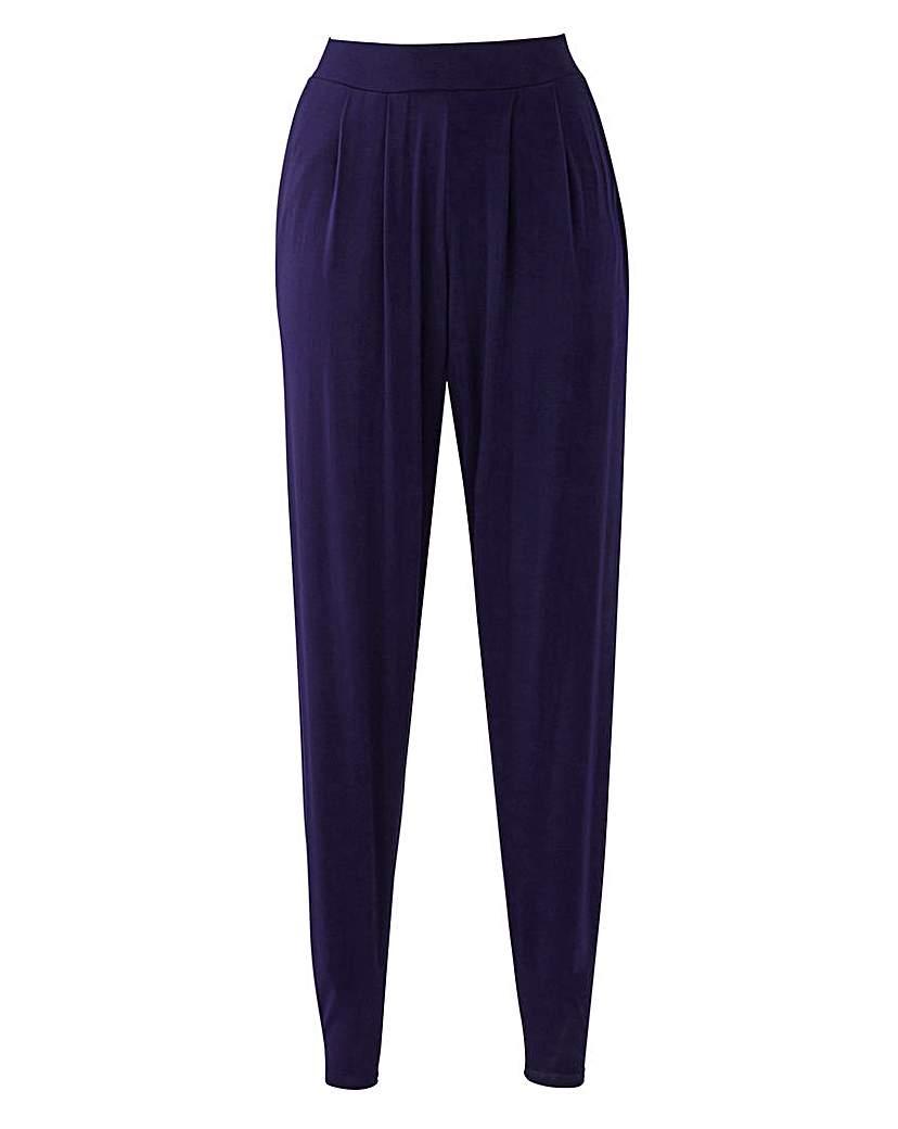 1950s Style Pants Stretch Jersey Harem Trouser - Short £20.00 AT vintagedancer.com