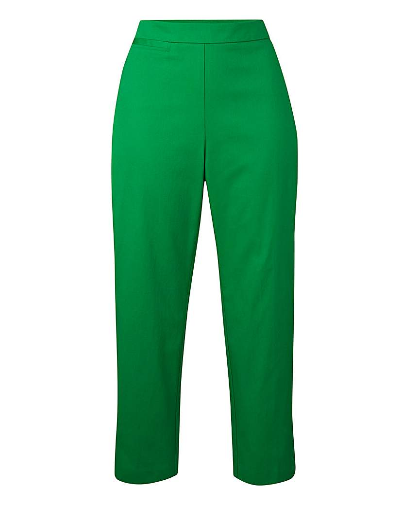 Cotton Sateen Crop Trousers