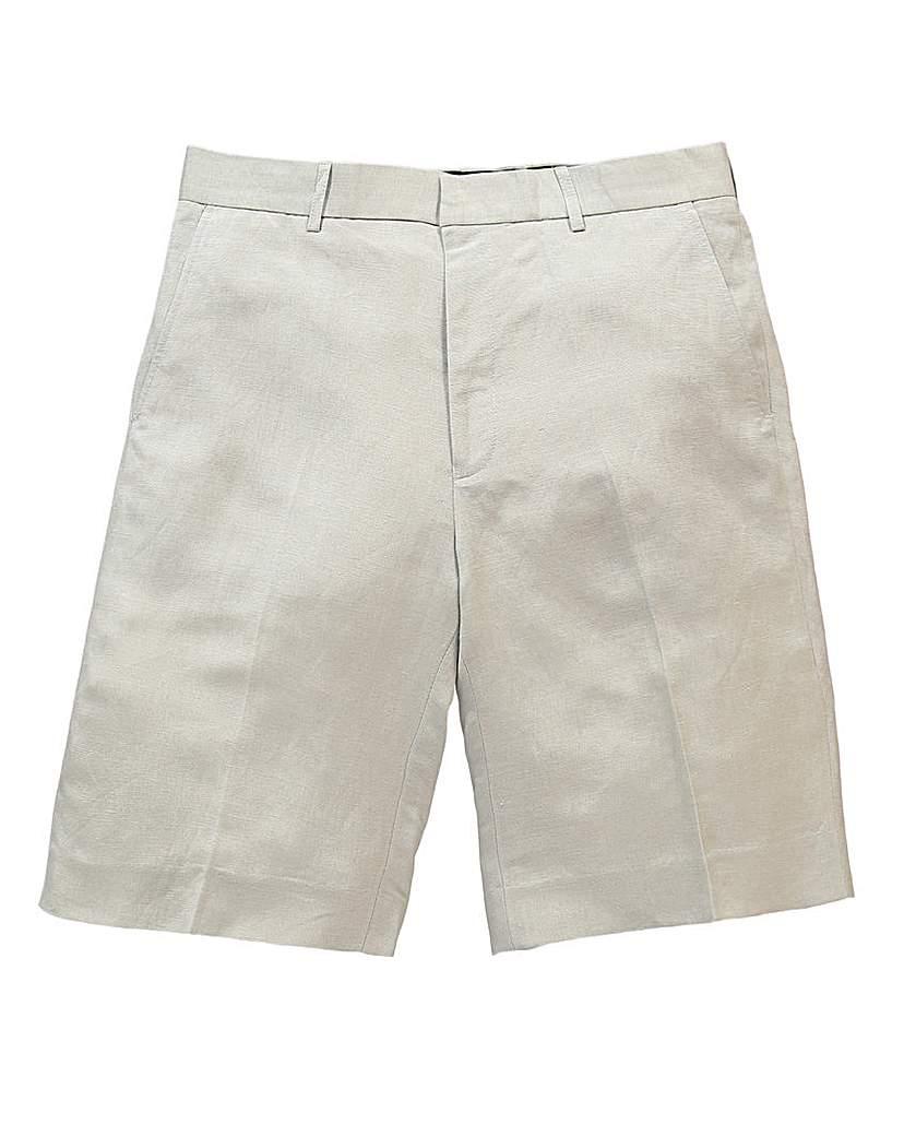 Black Label By Jacamo Flint Linen Shorts