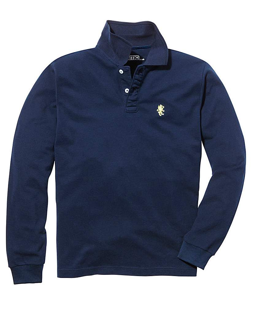 Jacamo Long Sleeve Griffin Polo Long.