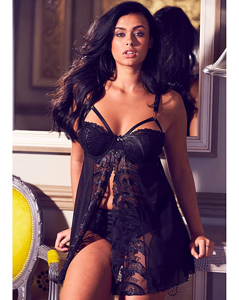 The Artistry Strap Black Babydoll