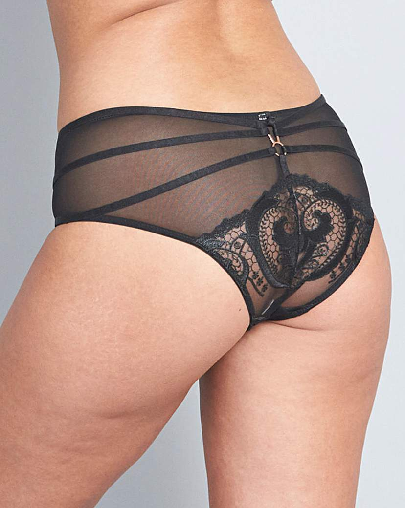The Artistry Strap Black Brazilian Brief