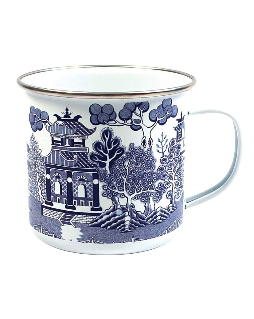 Image of Blue Willow Enamel Mug