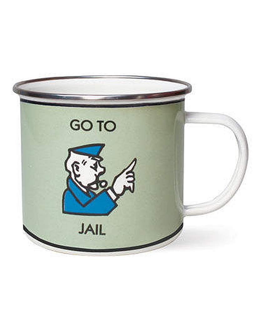 Image of Monopoly Enamel Mug Go to Jail