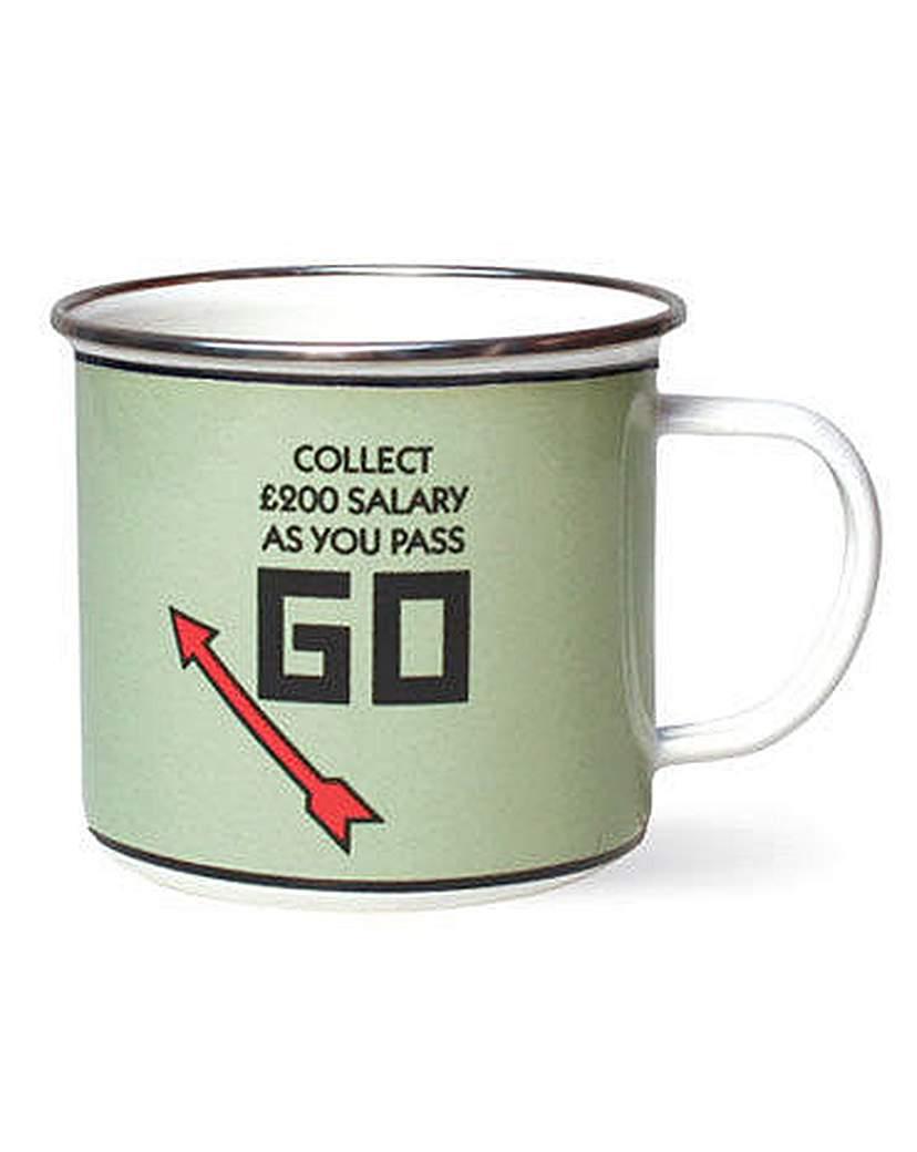 Monopoly Enamel Mug Pass Go