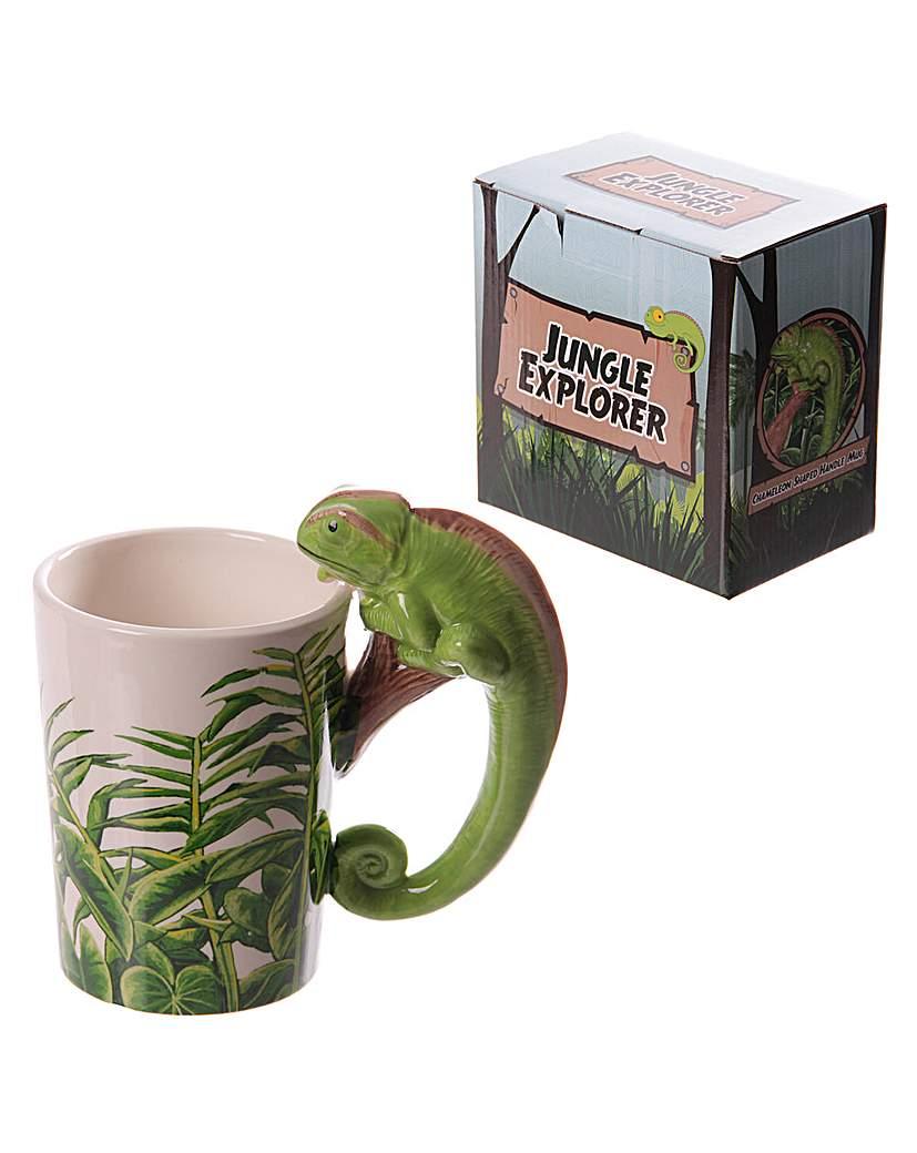 Shaped Handle Novelty Mug - Chameleon.