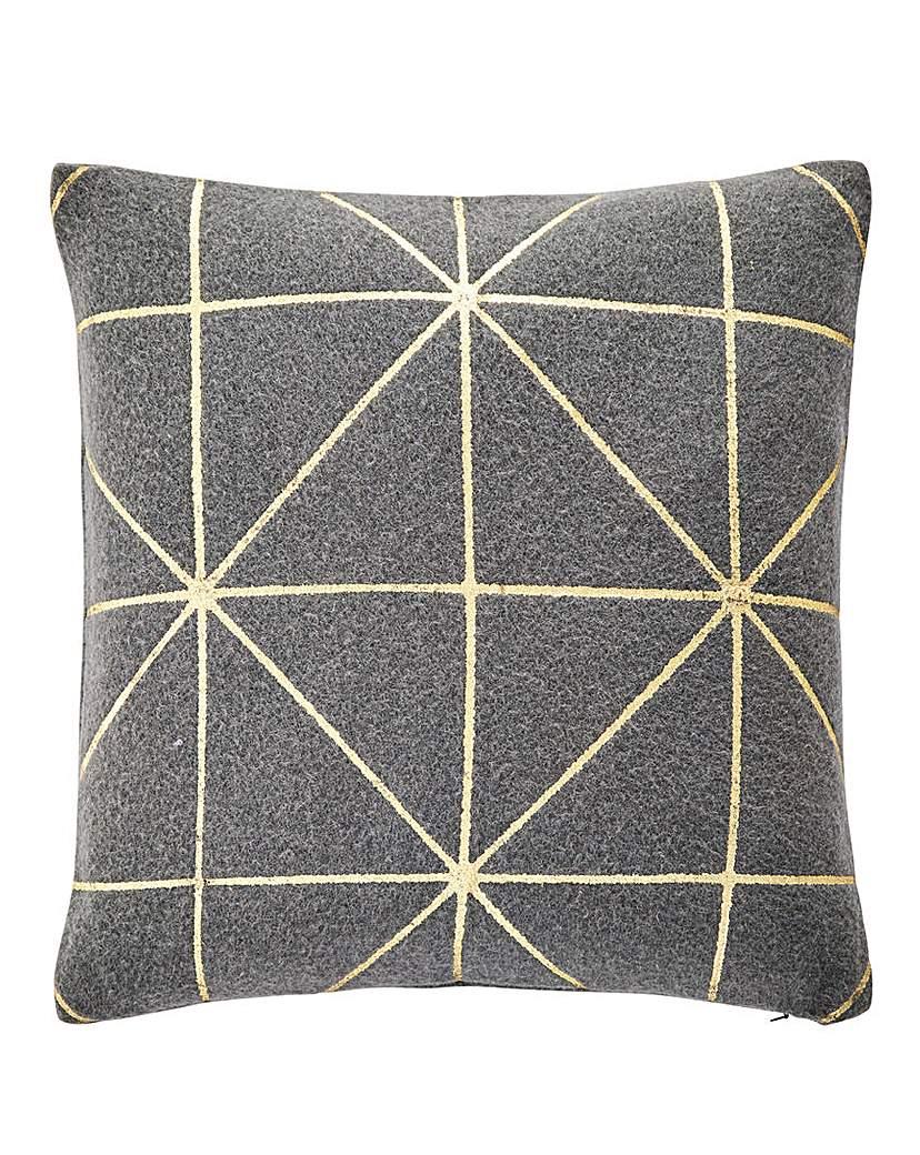 Image of Aria Felt & Gold Cushion
