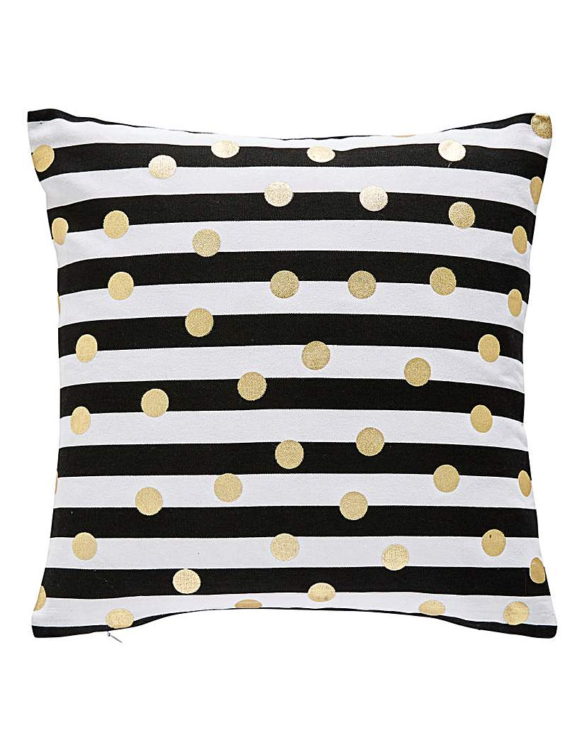 Image of Olivia Lines & Spots Cushion