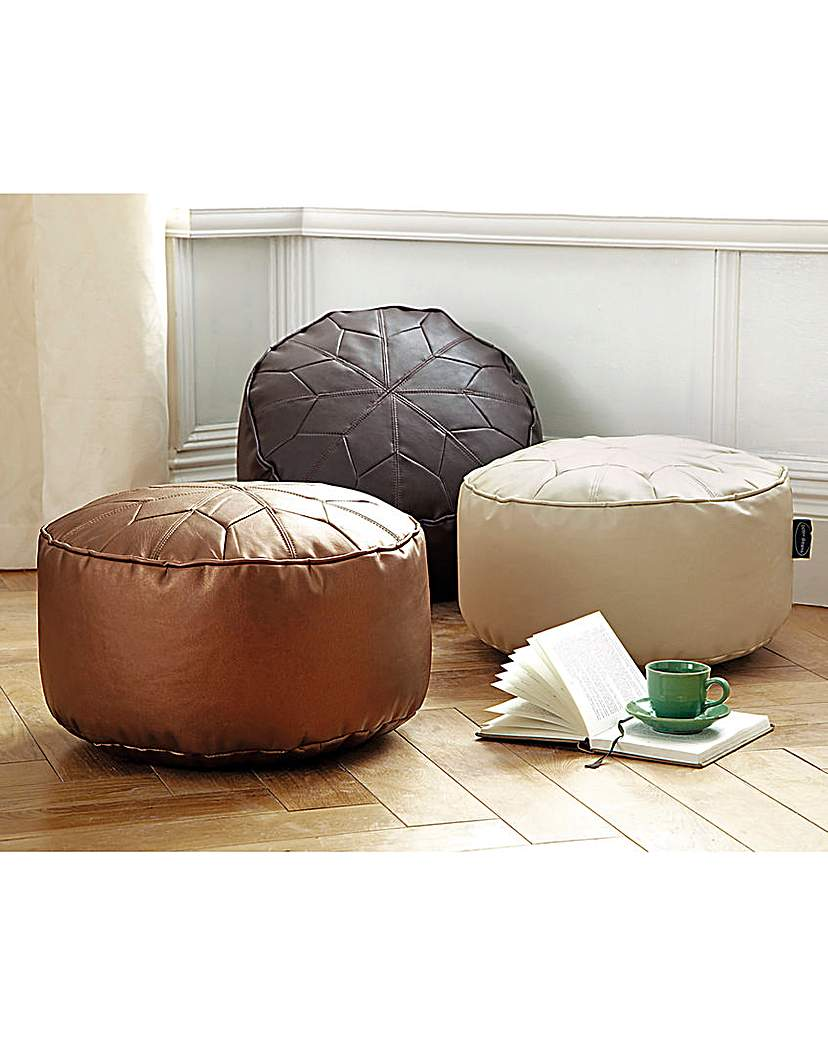 Image of Moroccan Star Design Pouffe Small