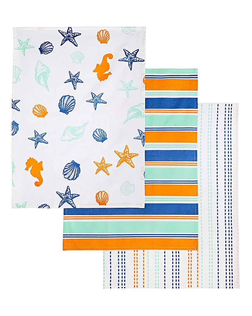 Evora Set of 3 Tea Towels