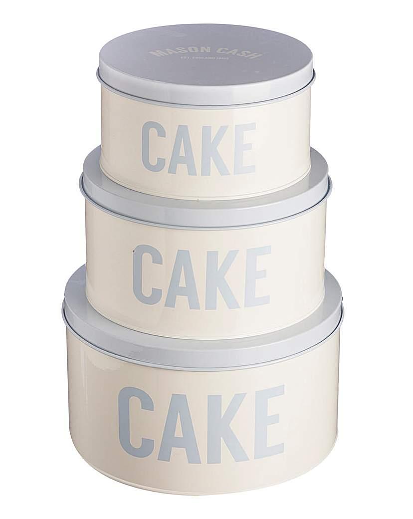 Image of Mason Cash Bakewell Set 3 Cake Tins