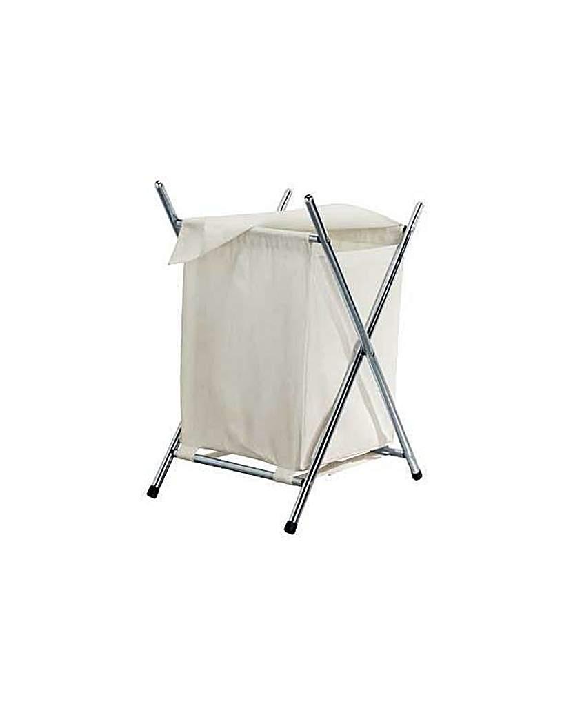 HOME Folded Laundry Basket - Chrome