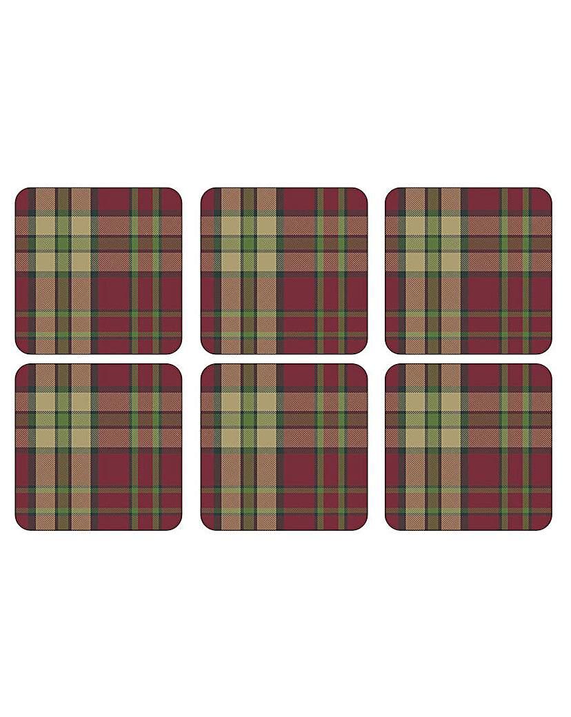 Image of Pimpernel Tartan Red Coasters