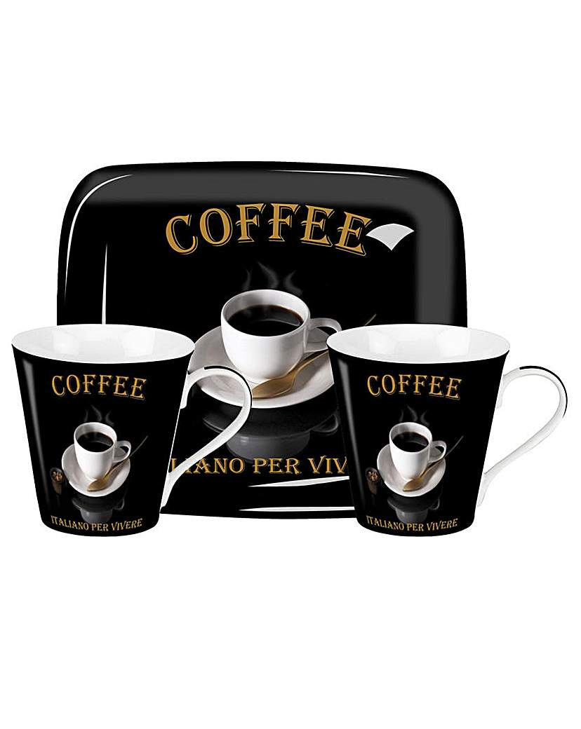 Image of Pimpernel Caf� Italiano Mug & Tray Set