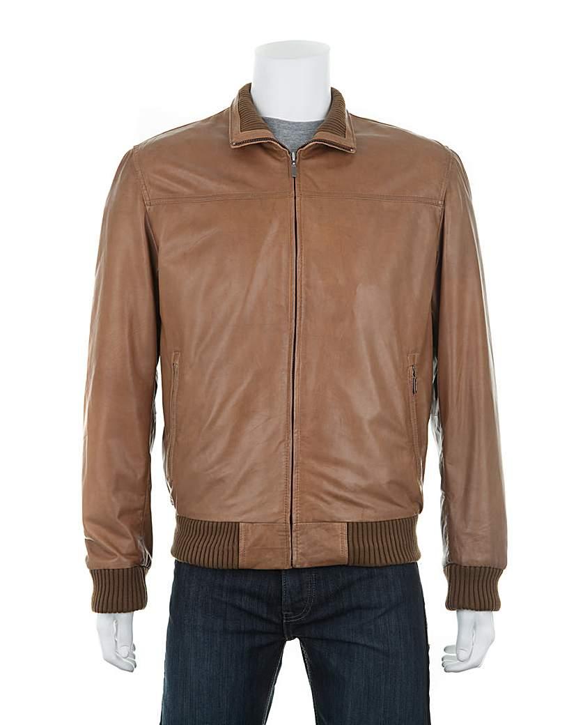 Woodland Leather Bomber Jacket £212.00 AT vintagedancer.com
