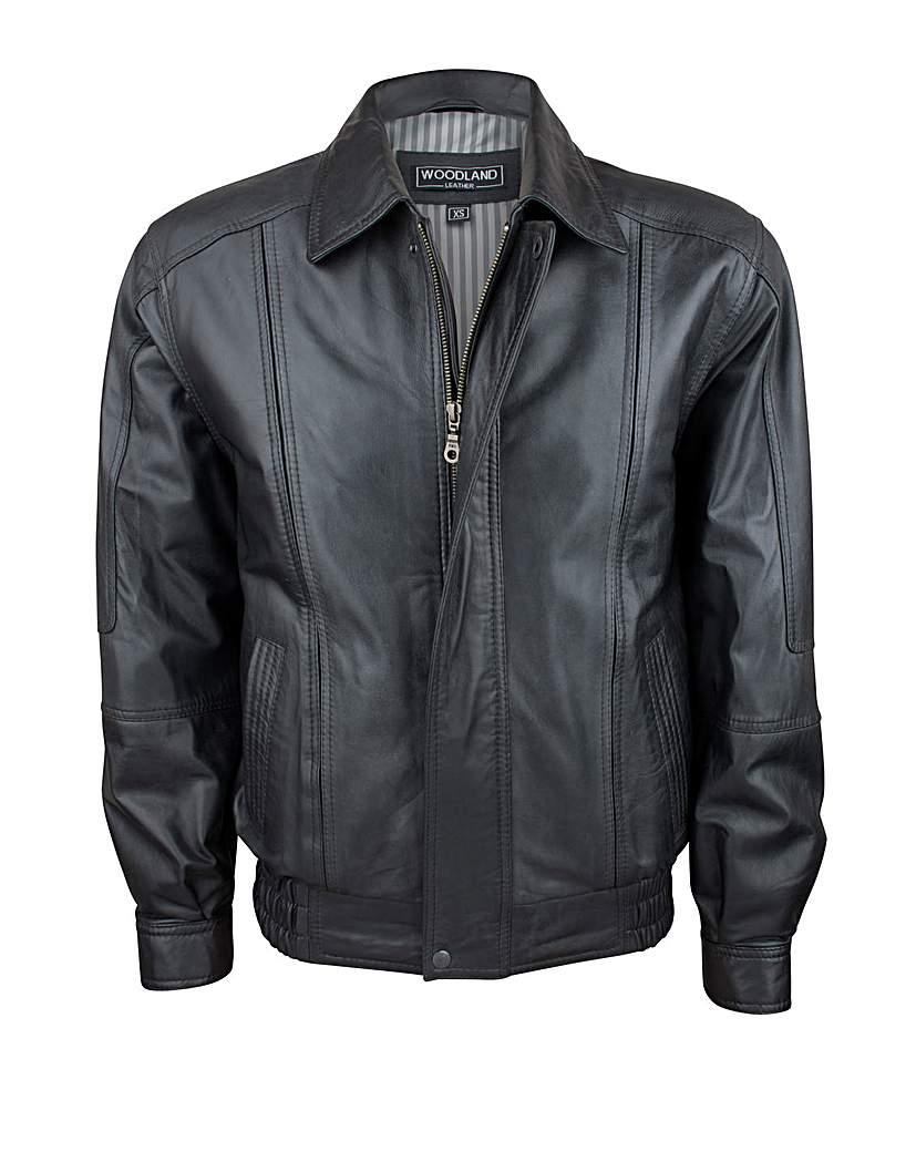Woodland Leather Blouson Jacket