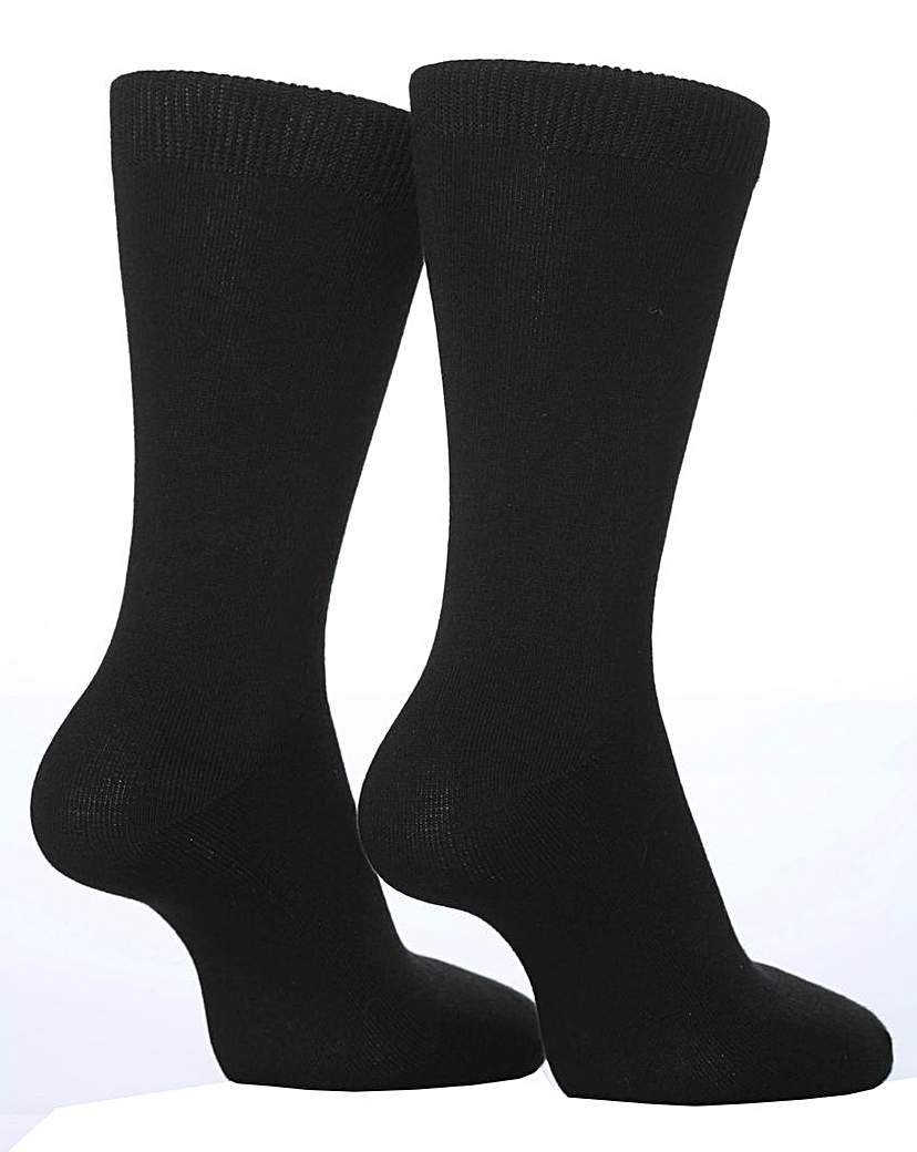 2 Pair Sockshop Plain Bamboo Socks