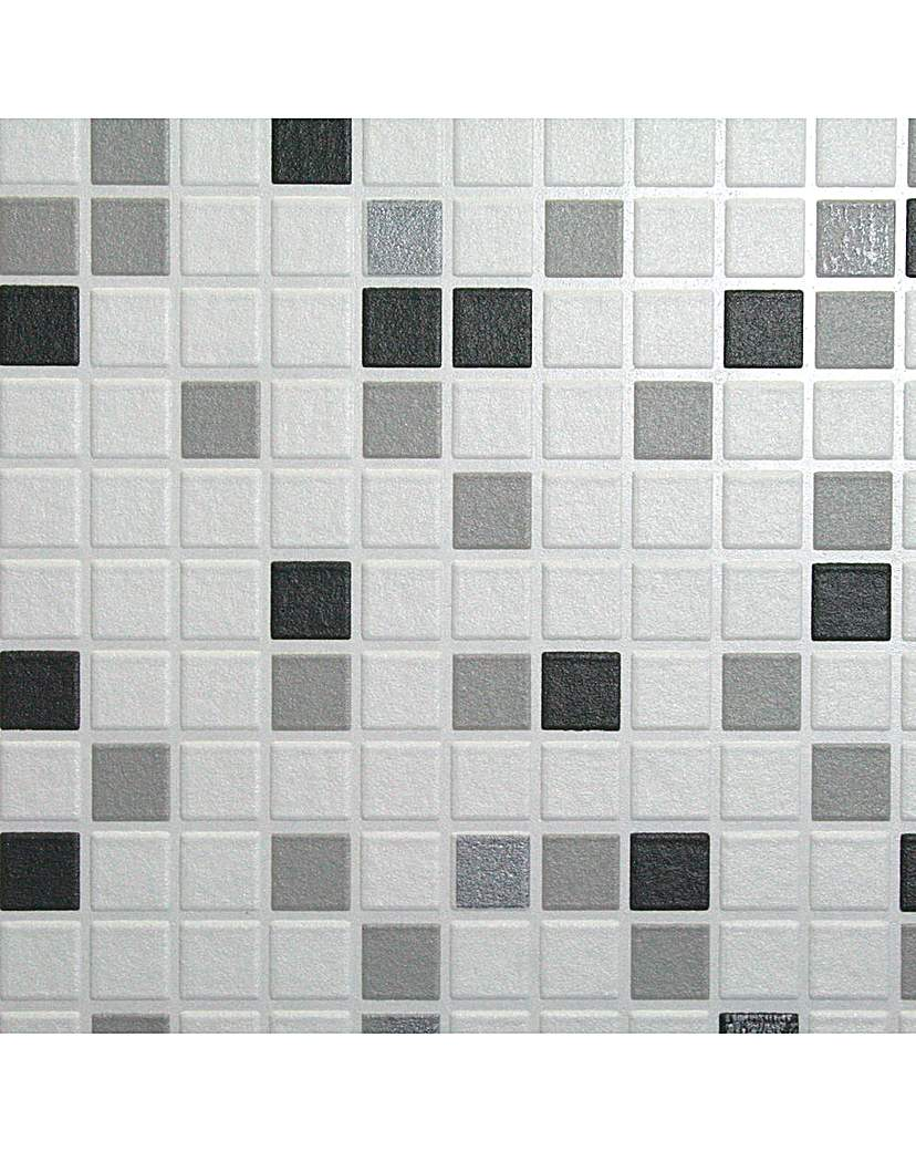 Image of Contour Checker Black&White Wallpaper