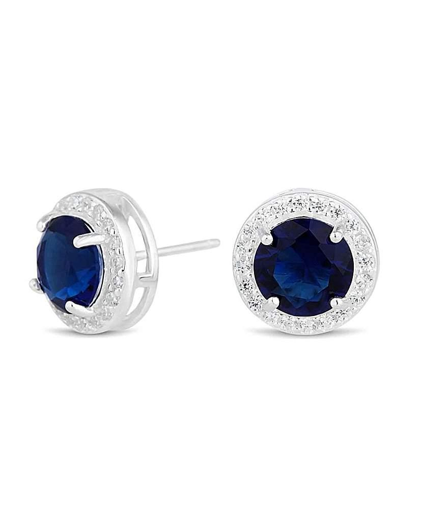 Simply Silver clara stud earring