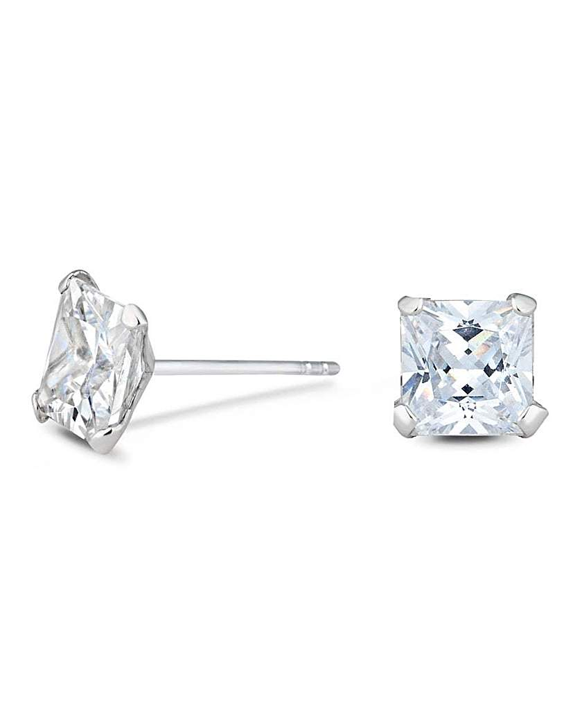 Image of Simply Silver square stud earring