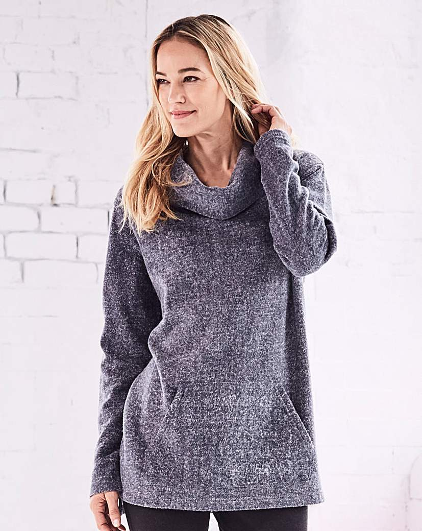 Image of Cowl Neck Pullover