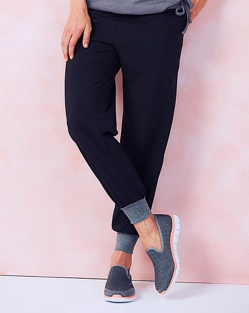 Image of Contrast Woven Jogger