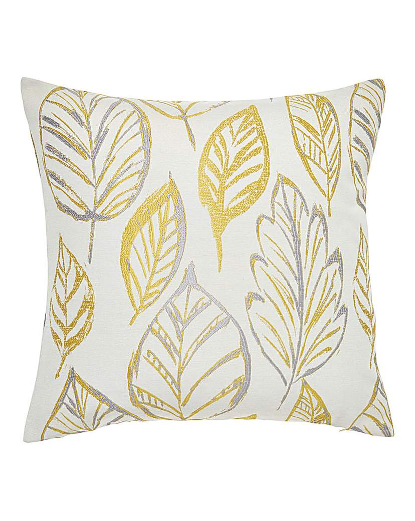 Peyton Leaf Square Filled Cushion