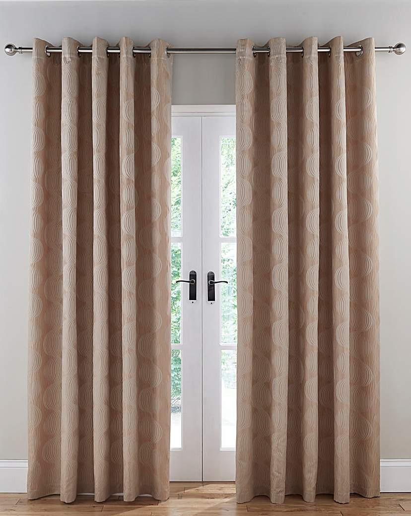 Image of Astoria Jacquard Lined Eyelet Curtains