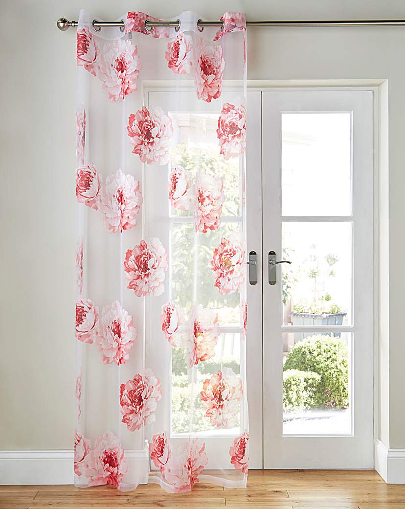 Image of Rose Printed Voile Panel