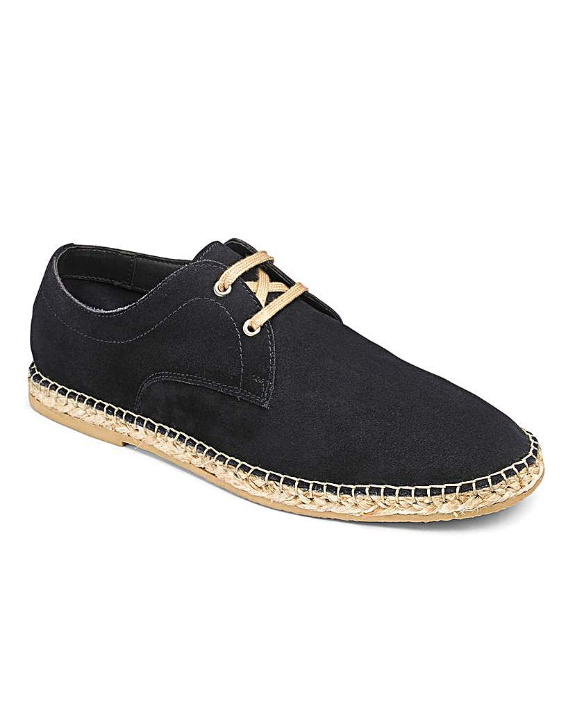 Suede Lace Up Espadrille