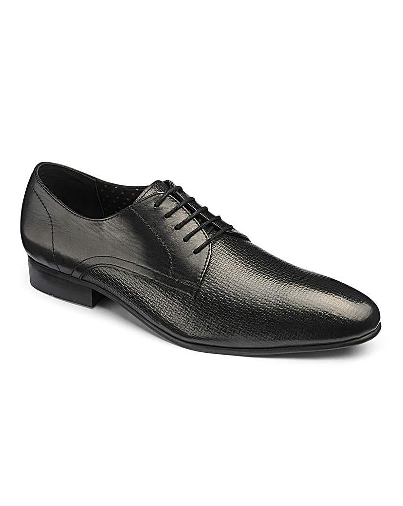 Image of Leather Premium Woven Derby Standard Fit
