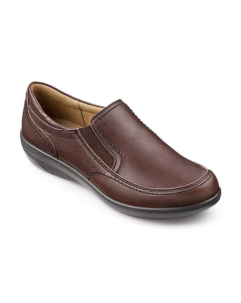 Hotter Greta Leather Slip On Shoes