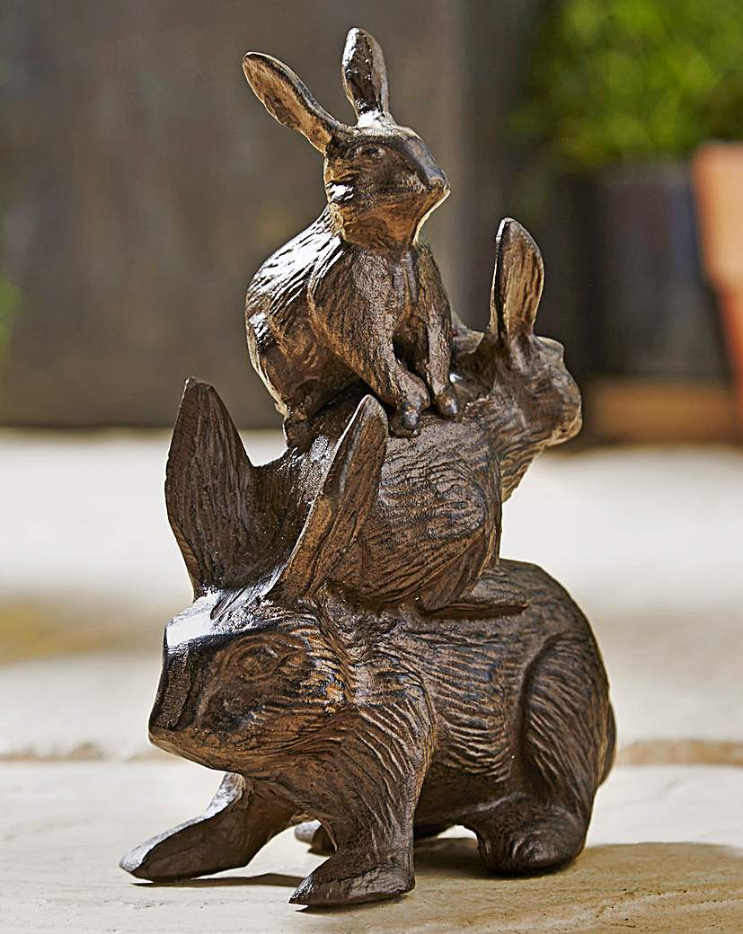 Cast Iron Stacking Rabbits