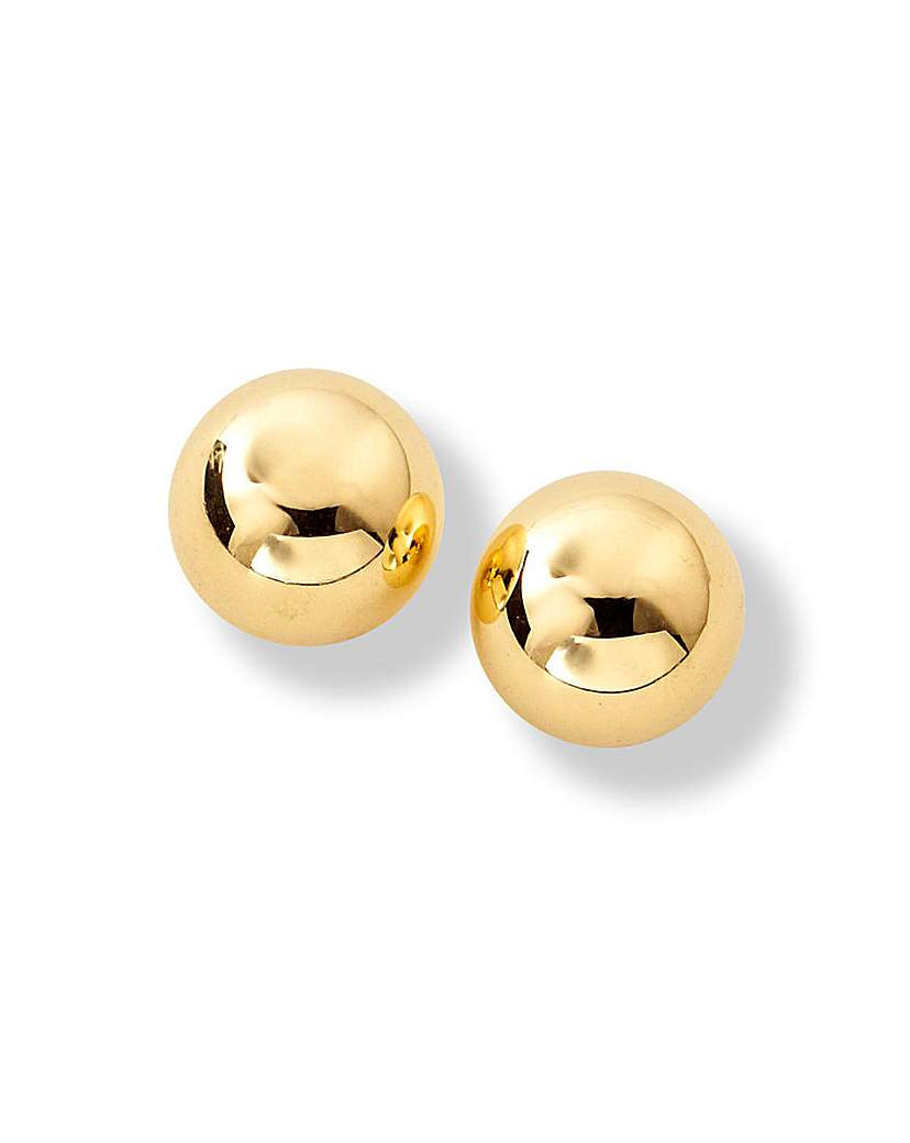 Image of 9 Carat Gold Large Ball Stud Earrings