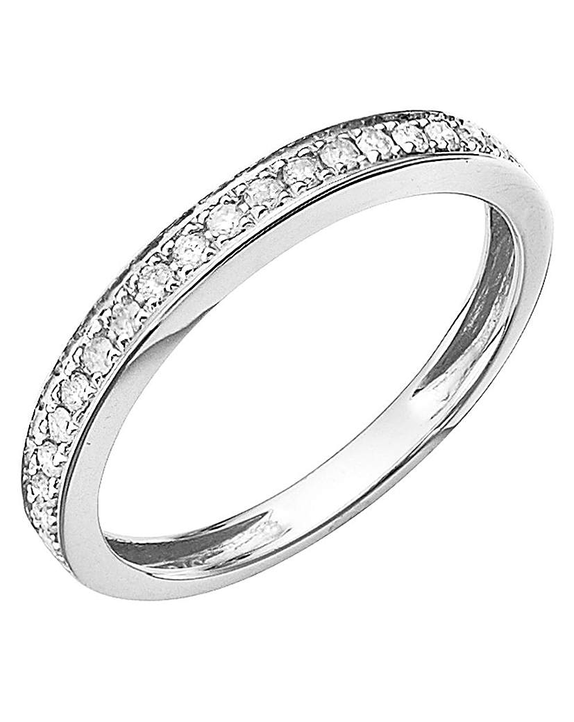9ct Gold Diamond Half-Eternity Ring