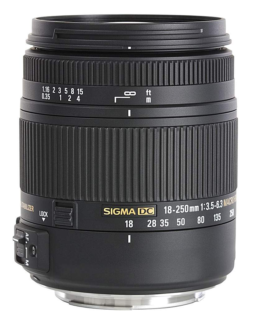 Sigma 18-250mm DC Macro Nikon Lens