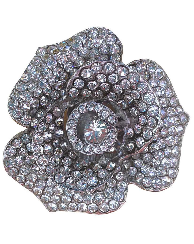 Perfect Diamante Flower Trim £25.00 AT vintagedancer.com