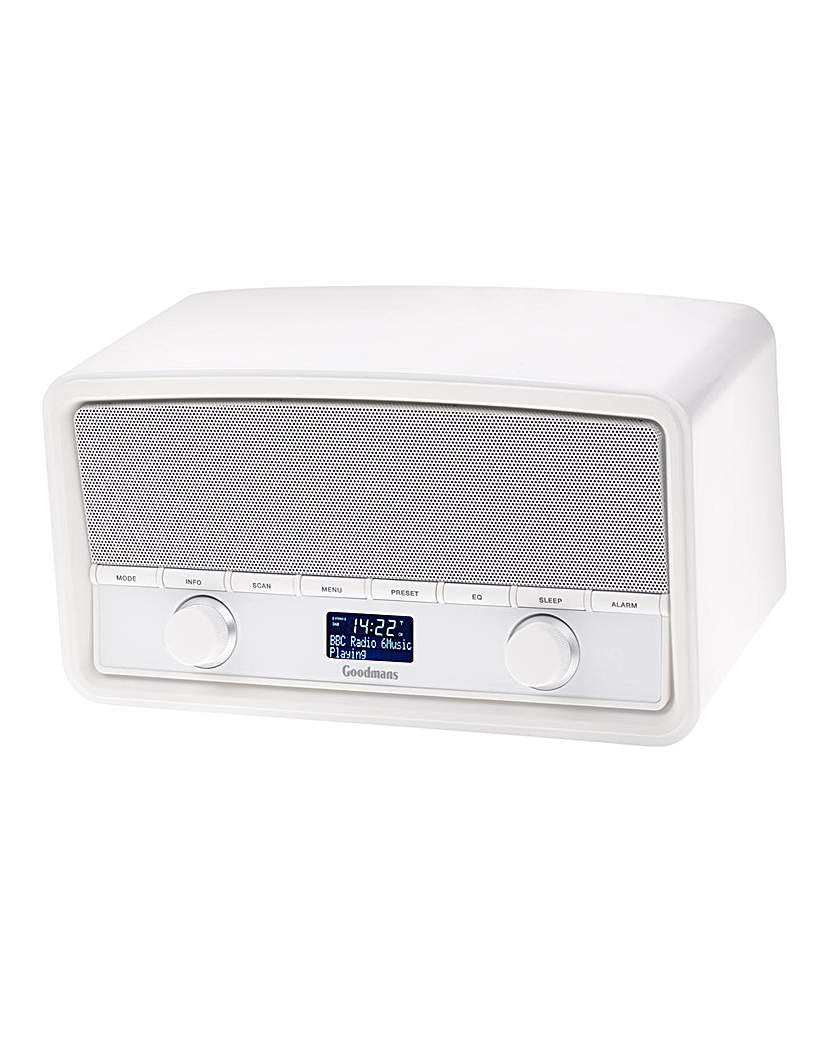 Goodmans GSR1889DAB DAB FM  Clock White