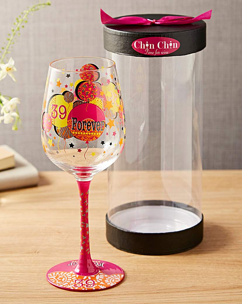 Image of 39 Forever Wine Glass