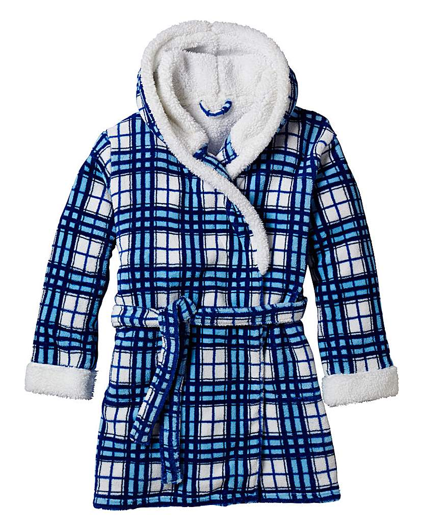Pretty Secrets Check Fleece Gown L35