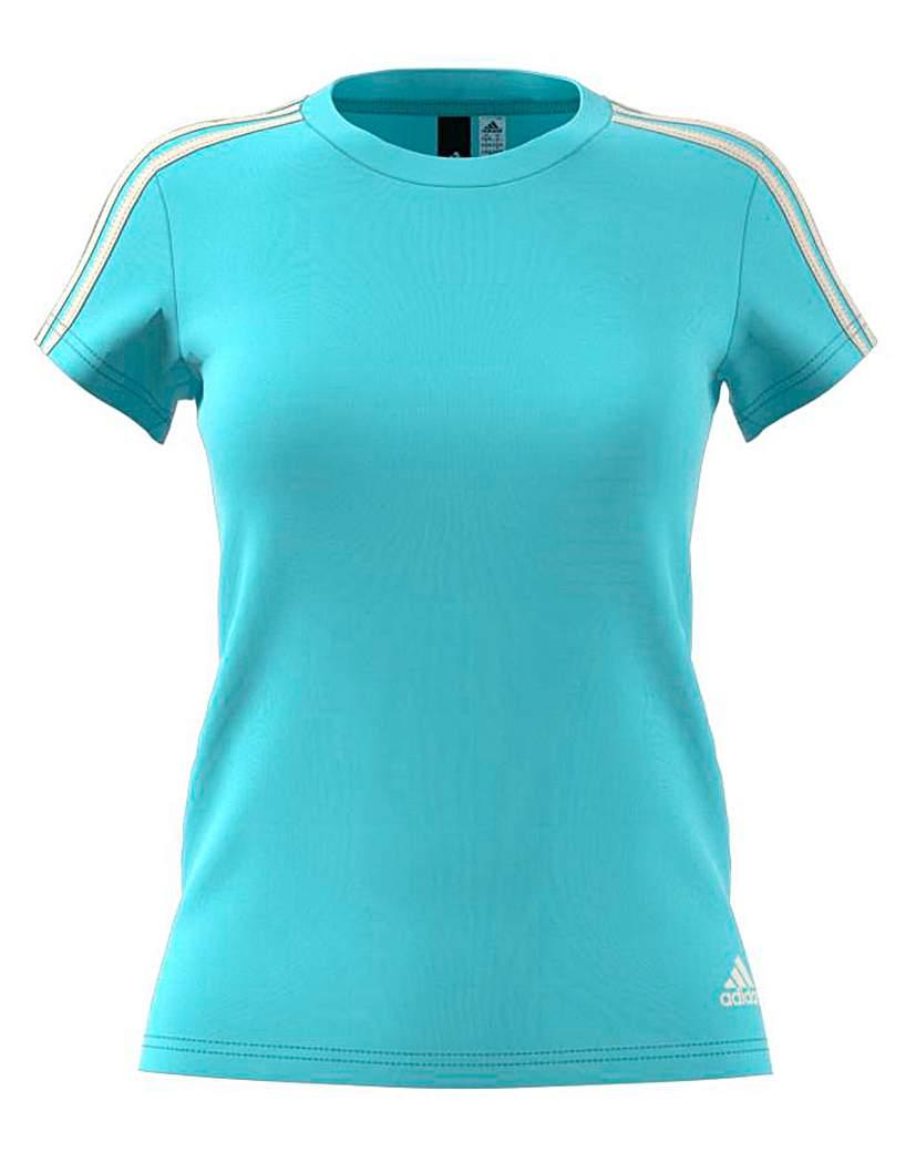 Image of Adidas 3 Stripe Slim Tee