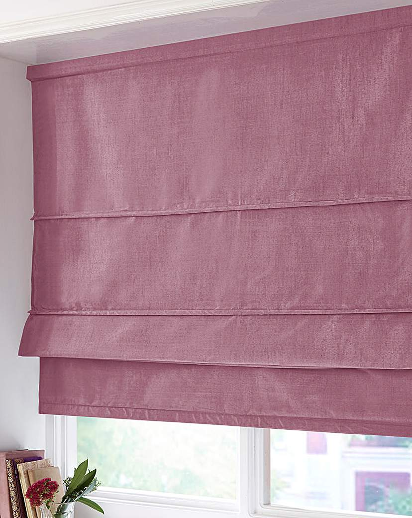 Image of Faux Silk Thermal Roman Blind